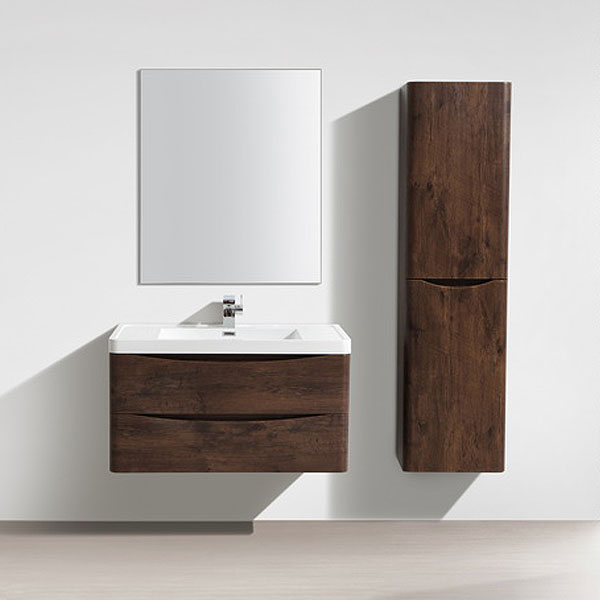 Ronda Chestnut 900mm Wide Wall Mounted Vanity Unit Feature Large Image
