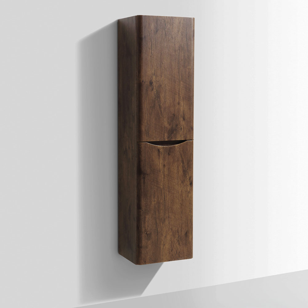 Ronda Chestnut Tall Wall Hung Storage Unit - 1500mm High profile large image view 1
