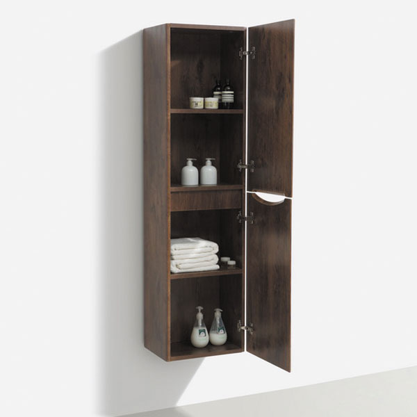 Ronda Chestnut Tall Wall Hung Storage Unit - 1500mm High profile large image view 2