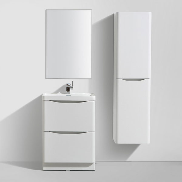 Ronda White Ash 600mm Wide Floor Standing Vanity Unit profile large image view 3
