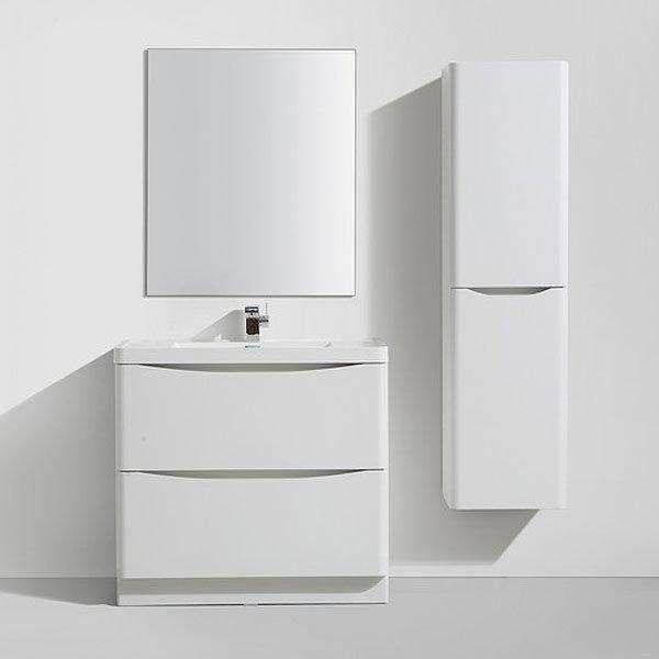 Ronda White Ash 900mm Wide Floor Standing Vanity Unit - RWA900FS