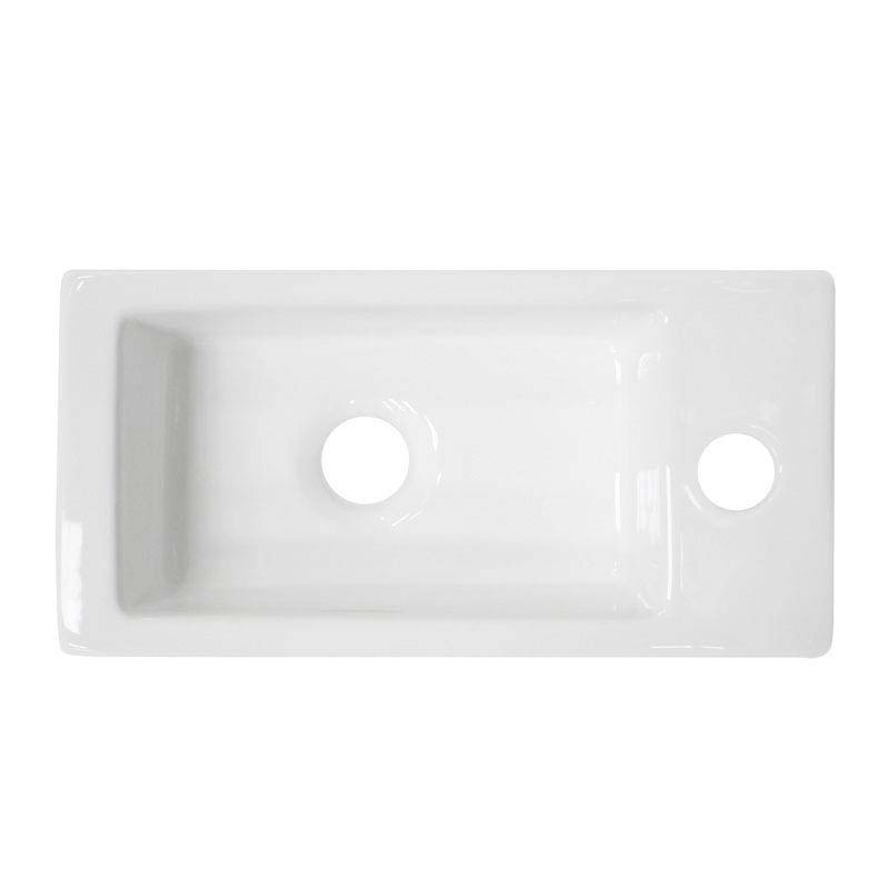 Rondo Wall Hung Small Cloakroom Basin 1TH - 365 x 185mm  Standard Large Image