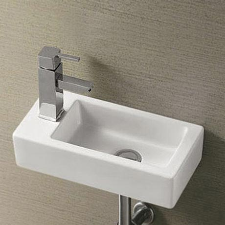 Bathroom sink dimensions - Home Offers Rondo Wall Hung Small Cloakroom Basin 1th 365 X