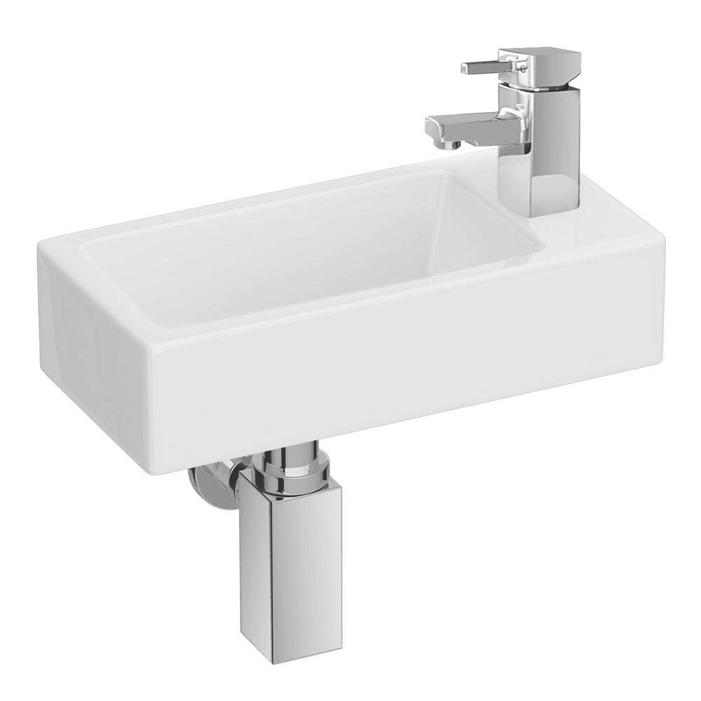 Rondo Wall Hung Small Cloakroom Basin Package Large Image
