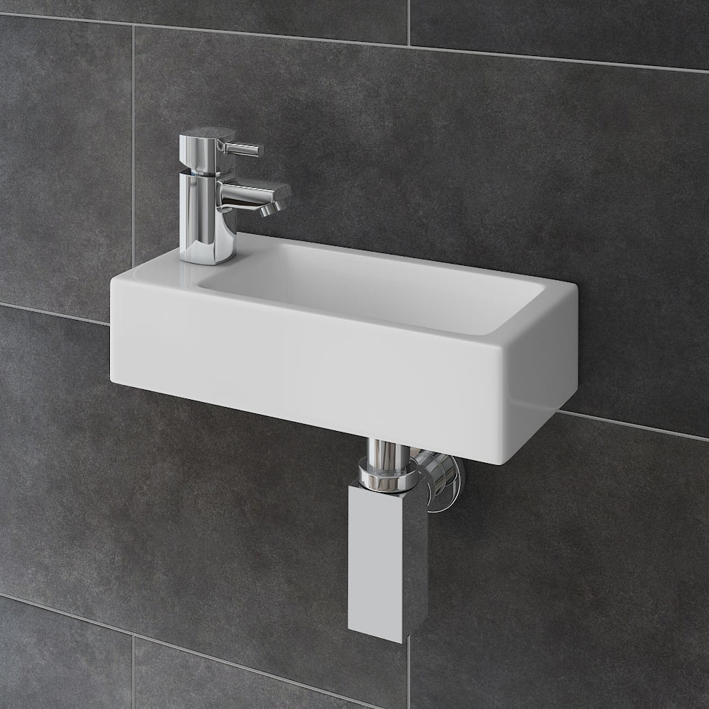 Rondo Wall Hung Small Cloakroom Basin Package profile large image view 1