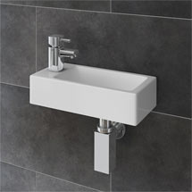 Rondo Wall Hung Small Cloakroom Basin Package Medium Image