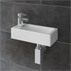 Rondo Wall Hung Small Cloakroom Basin Package profile small image view 1