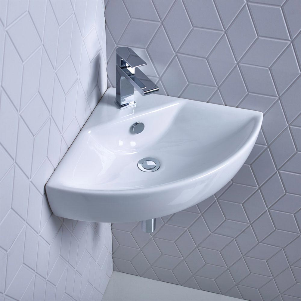 Roper Rhodes Zest 450mm Corner Basin - Z45CB profile large image view 1