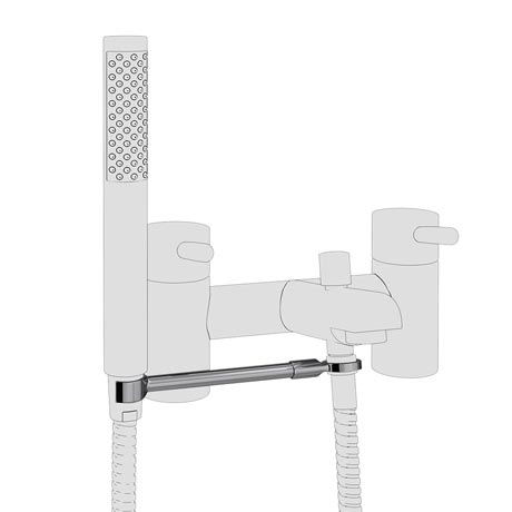 Round Bath Shower Mixer Handset Holder Arm