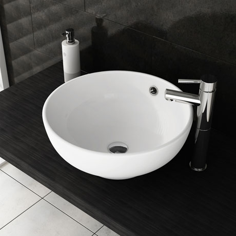 Round Counter Top Basin with Tap Package
