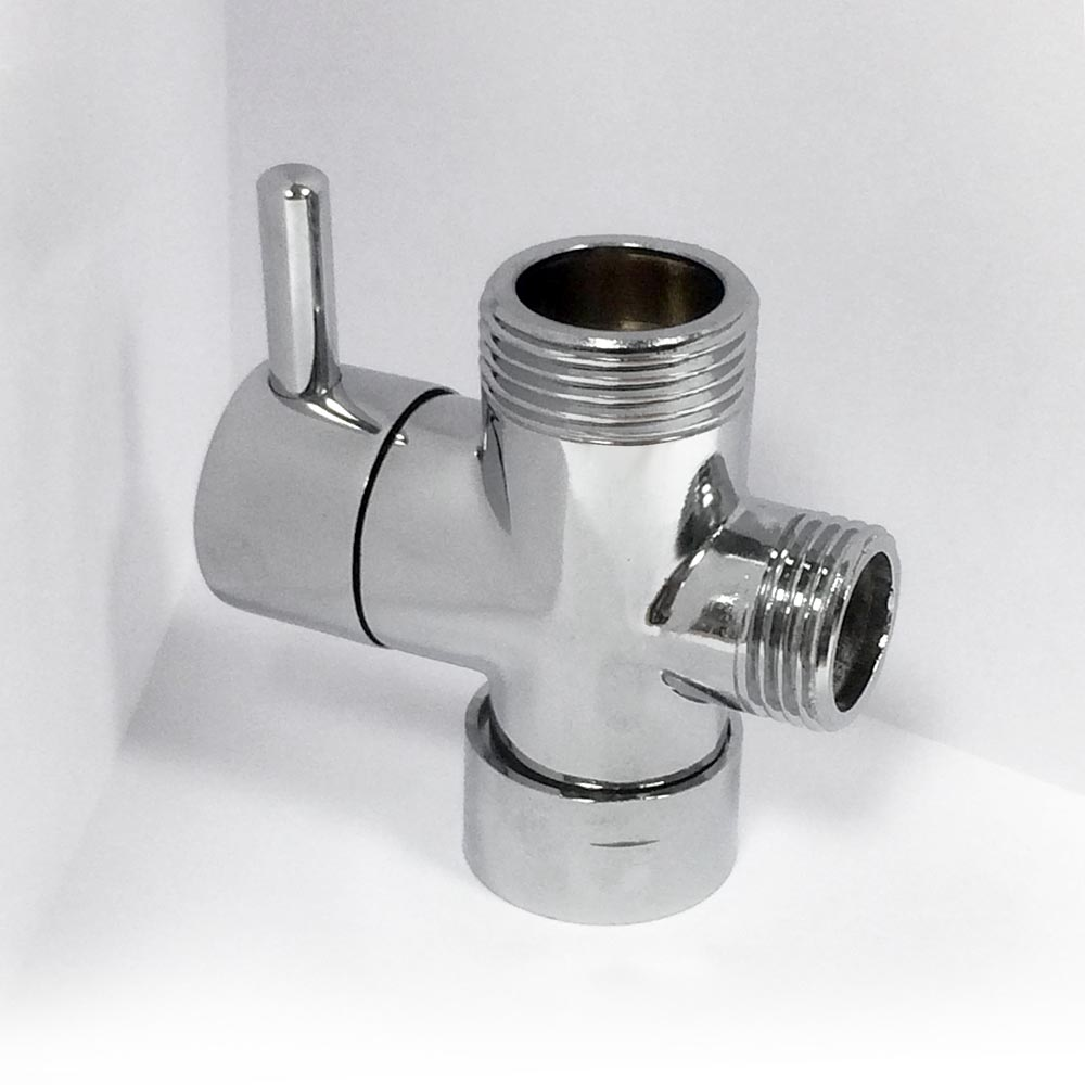 Round Chrome Plated Shower Diverter Valve Victorian