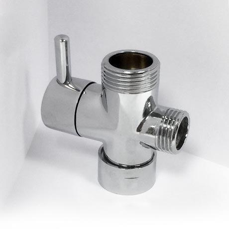 Round Shower Diverter Valve - Chrome Plated