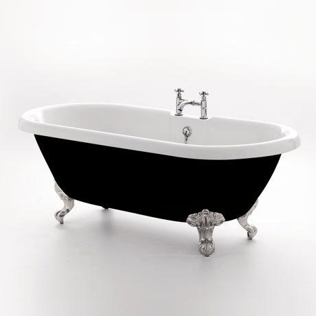 Royce Morgan Kensington 1755 Black Freestanding Bath with Waste