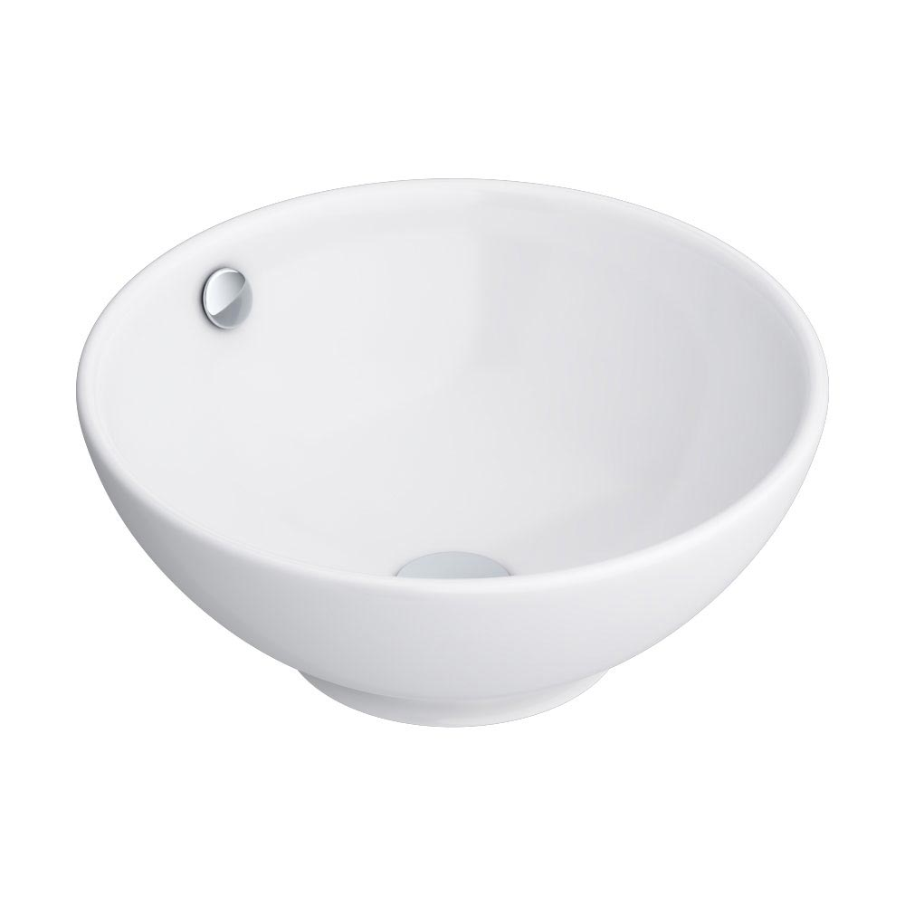 Runda Round Counter Top Basin 0TH - 370mm Diameter Feature Large Image