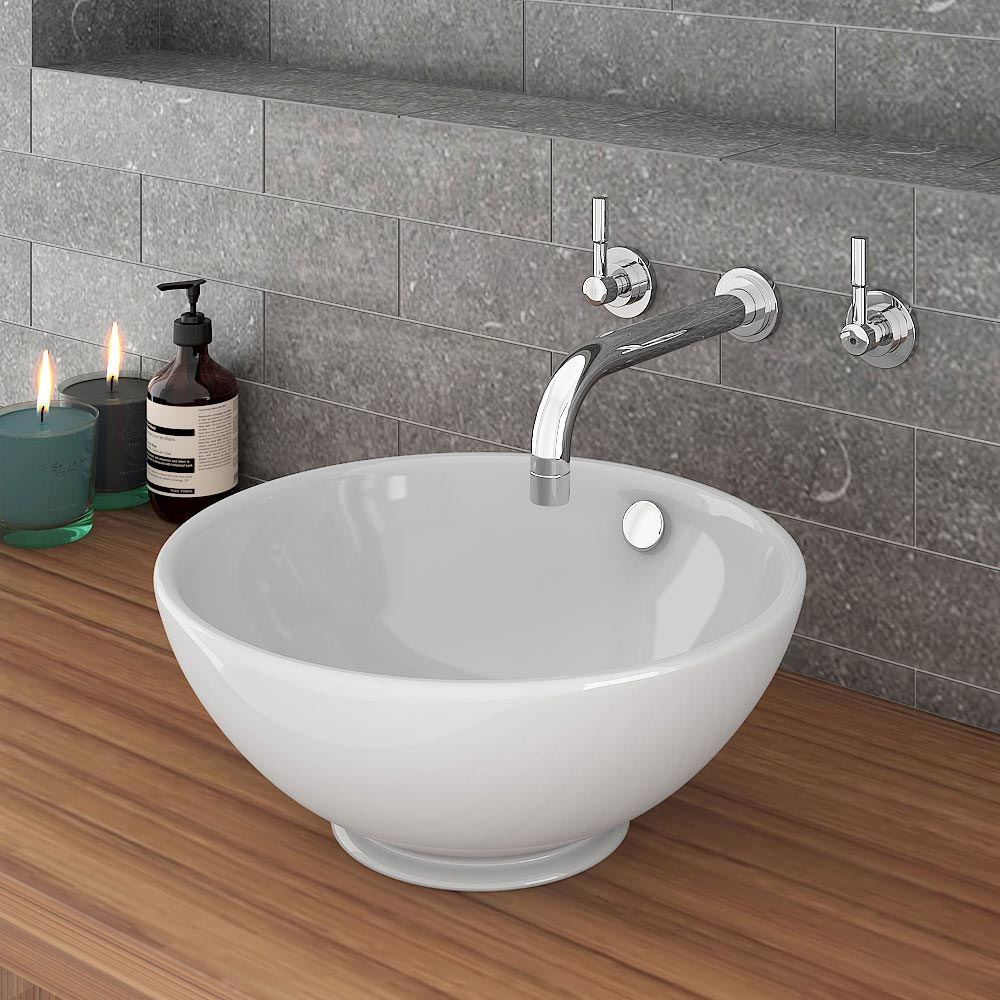 Runda Round Counter Top Basin 0TH - 370mm Diameter Large Image