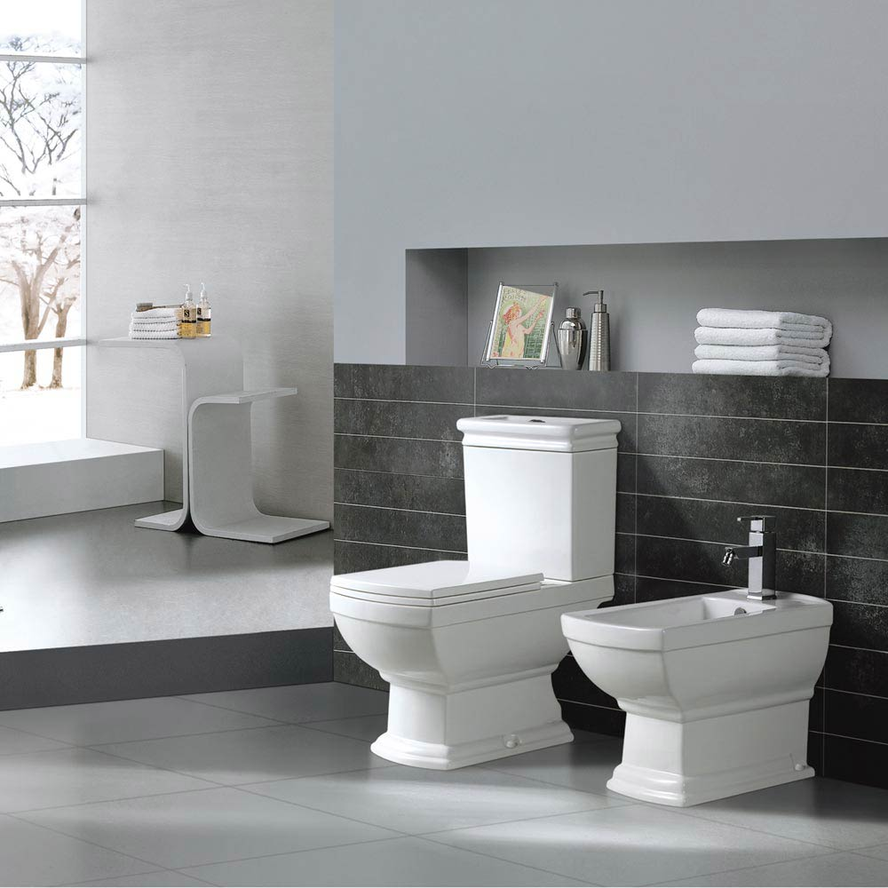 Rydal Traditional Toilet + Soft Close Seat  Profile Large Image