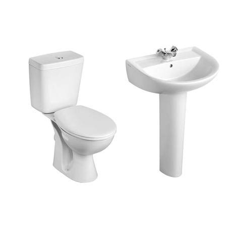 Armitage Shanks - Sandringham21 Toilet and 1TH Basin To Go Boxed Pack - S049301