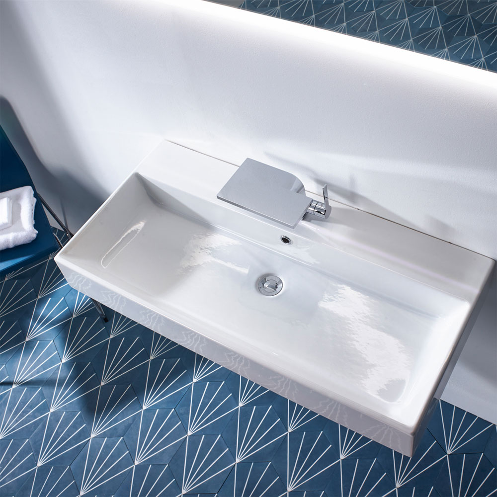 Roper Rhodes Statement 1000mm Wall Mounted or Countertop Basin - S100SB Feature Large Image
