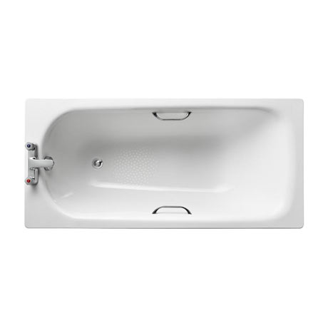 Armitage Shanks Sandringham 21 2TH Steel Bath with Handgrips & Anti-Slip