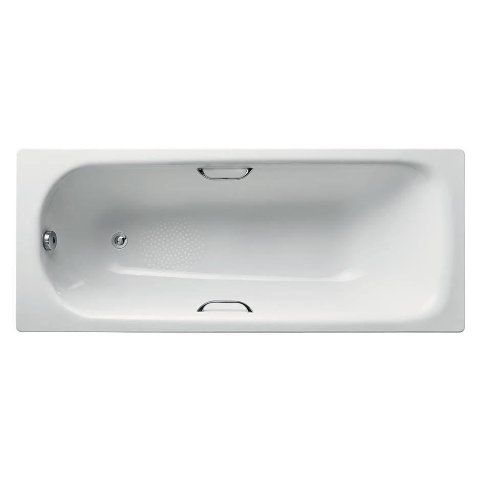 Armitage Shanks Sandringham 21 1700 x 700mm 0TH Steel Bath with Handgrips & Anti-Slip - S183801