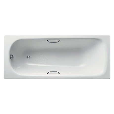Armitage Shanks Sandringham 21 1700 x 700mm 0TH Steel Bath with Handgrips & Anti-Slip - S183801