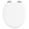 Burlington Soft Close Toilet Seat - Gloss White Seat - S18 profile small image view 1
