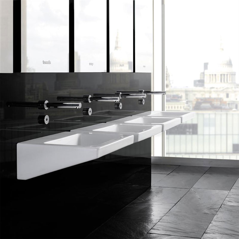 Armitage Shanks - Leadenhall 55cm Back Outlet Washbasin - No TH - S205801 profile large image view 2
