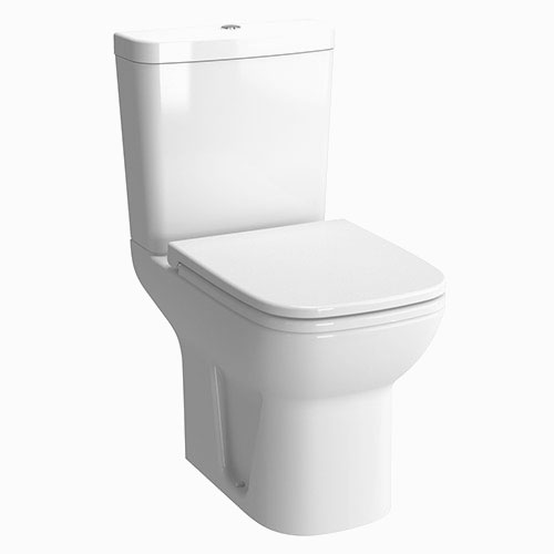 Vitra - S20 Short Projection Close Coupled Toilet (Open Back) - 2 x Seat Options Large Image
