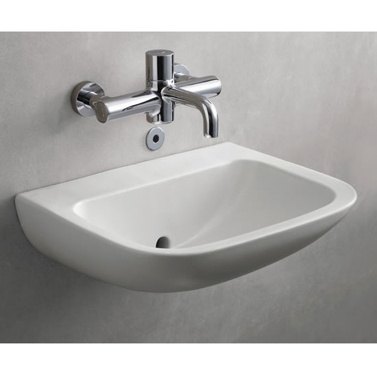 Armitage Shanks - Contour21 Back Outlet Washbasin - 2 x Size Options profile large image view 2