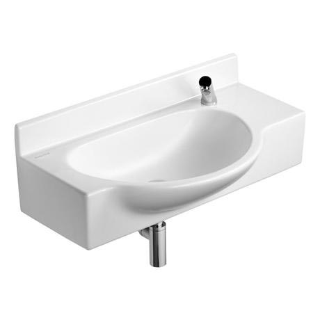 Armitage Shanks - Airside 80cm Semi-recess basin & Shelf - 2 x Tap Hole Options