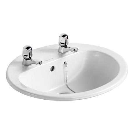 Armitage Shanks - Orbit21 55cm Countertop basin - 2TH with Overflow & Chainhole - S248801