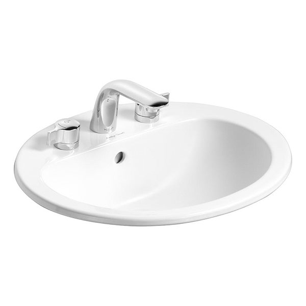 Armitage Shanks - Orbit21 55cm Countertop basin - 3TH with Overflow No Chainhole - S249101 profile large image view 1
