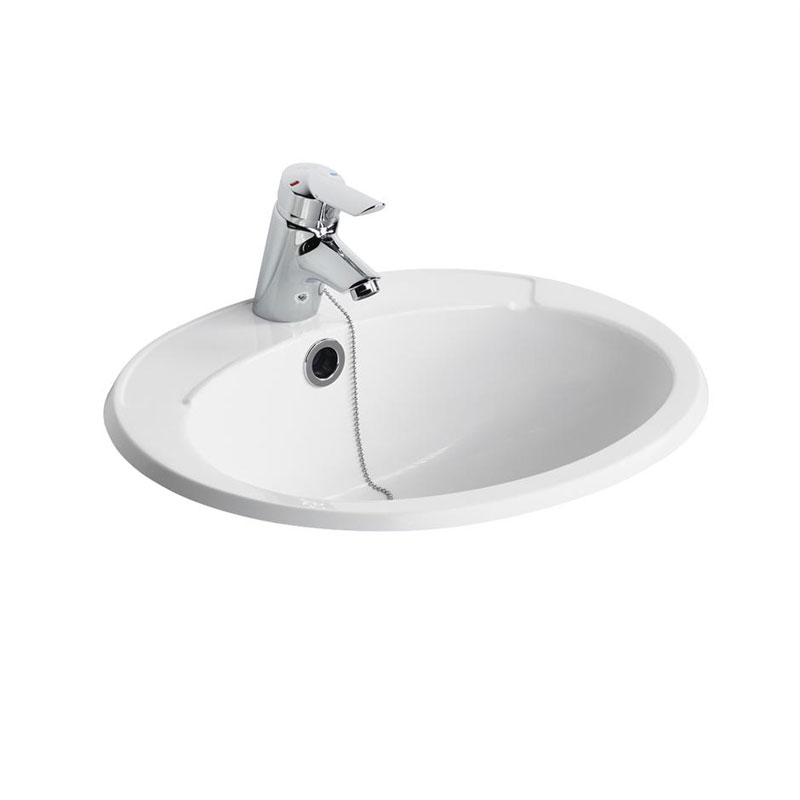 Armitage Shanks - Galaxy 51cm Countertop Washbasin - 2 x Tap Hole Options Large Image