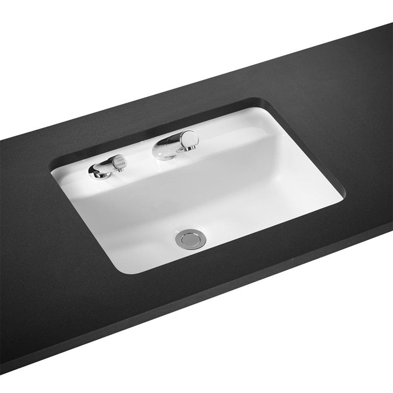 Armitage Shanks - Contour21 Rectangular 55cm Under Countertop Basin - Left Hand Soap Dispenser Large Image