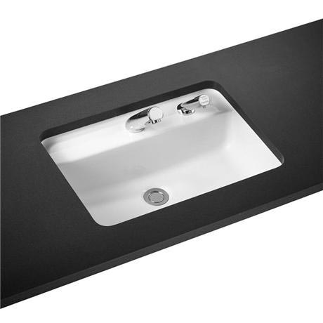 Armitage Shanks - Contour21 Rectangular 55cm Under Countertop Basin - Right Hand Soap Dispenser