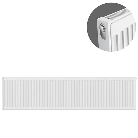 Type 11 H300 x W1400mm Compact Single Convector Radiator - S314K