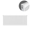 Type 11 H400 x W900mm Compact Single Convector Radiator - S409K profile small image view 1