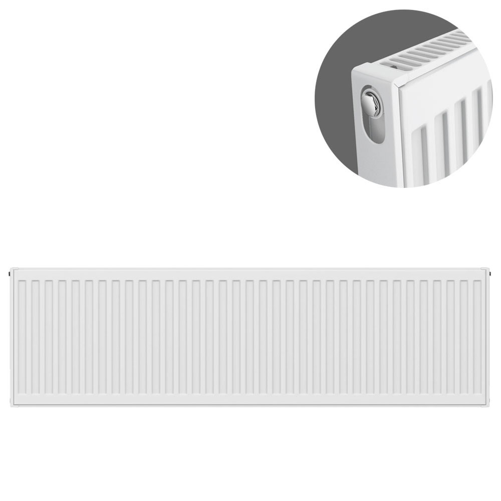 Type 11 H400 x W1200mm Compact Single Convector Radiator - S412K