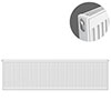 Type 11 H400 x W1200mm Compact Single Convector Radiator - S412K profile small image view 1
