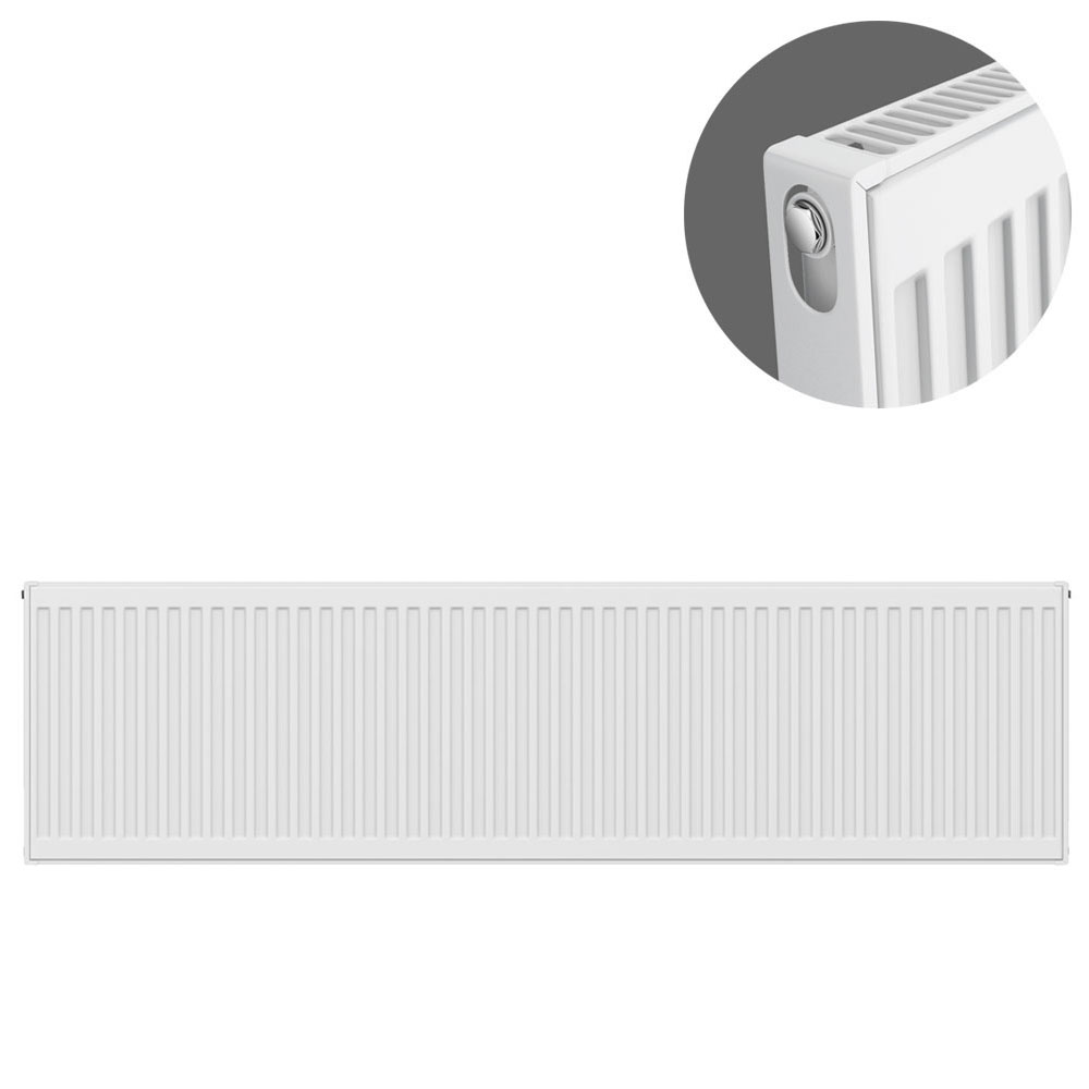 Type 11 H400 x W1600mm Compact Single Convector Radiator - S416K