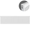 Type 11 H400 x W1800mm Compact Single Convector Radiator - S418K profile small image view 1