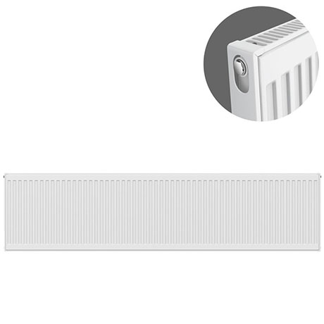 Type 11 H400 x W2200mm Compact Single Convector Radiator - S422K