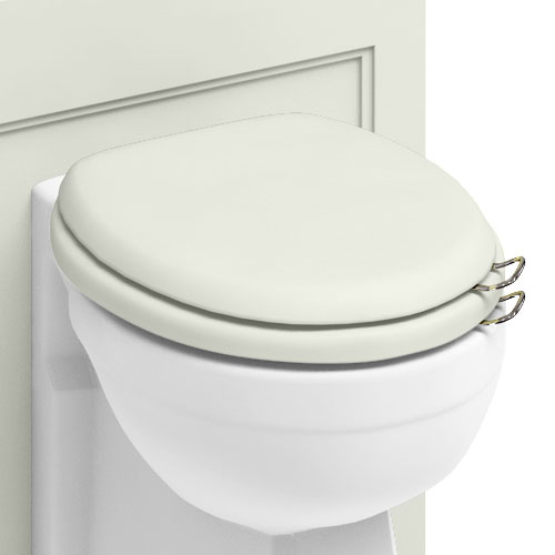 Burlington Soft Close Toilet Seat with Chrome Hinges and Handles - Sand profile large image view 2