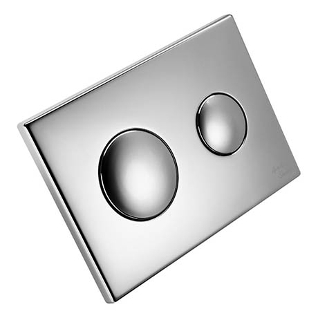 Armitage Shanks Chrome Push Button Dual Flush Plate for Conceala 2 Cisterns - S4397AA