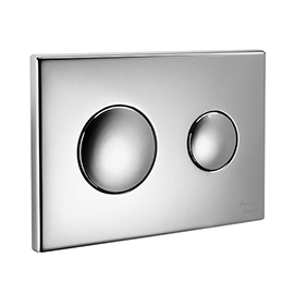 Armitage Shanks Chrome Push Button Dual Flush Plate for Conceala 2 Cisterns - S4397AA