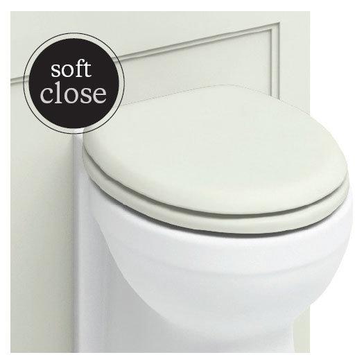 Burlington Soft Close Toilet Seat with Chrome Hinges - Sand Profile Large Image
