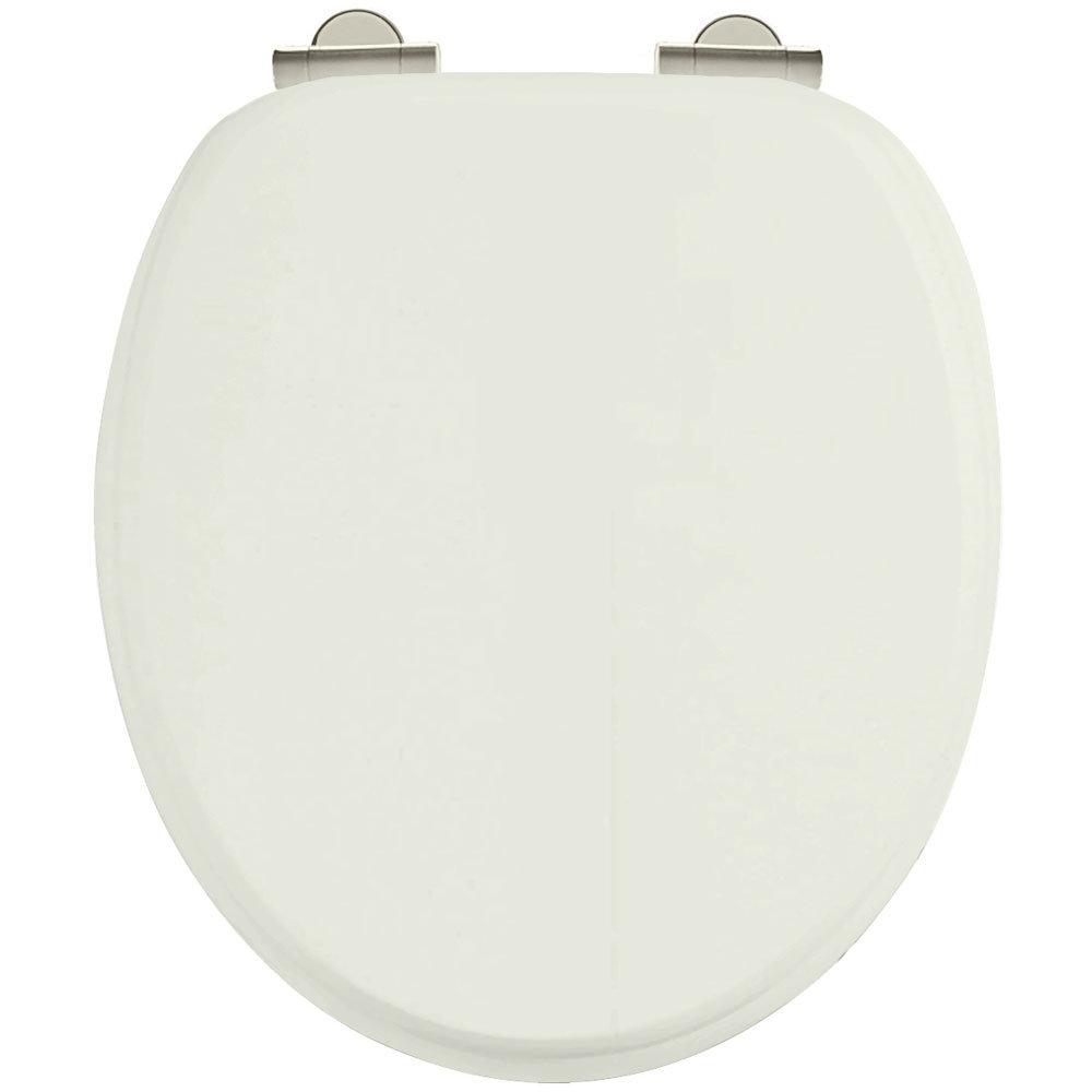 Burlington Soft Close Toilet Seat with Chrome Hinges - Sand Large Image