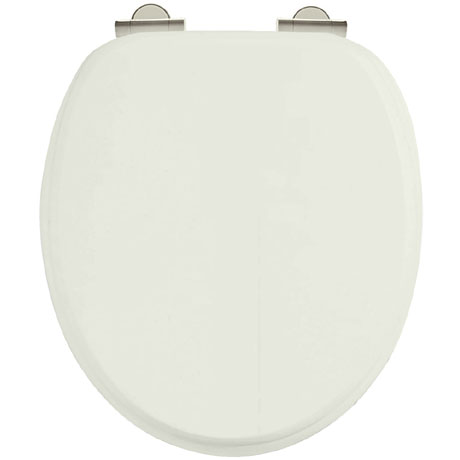 Burlington Soft Close Toilet Seat with Chrome Hinges - Sand