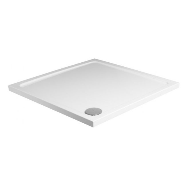 JT40 Fusion Square Anti-Slip Shower Tray with Waste - Various Size Options Large Image