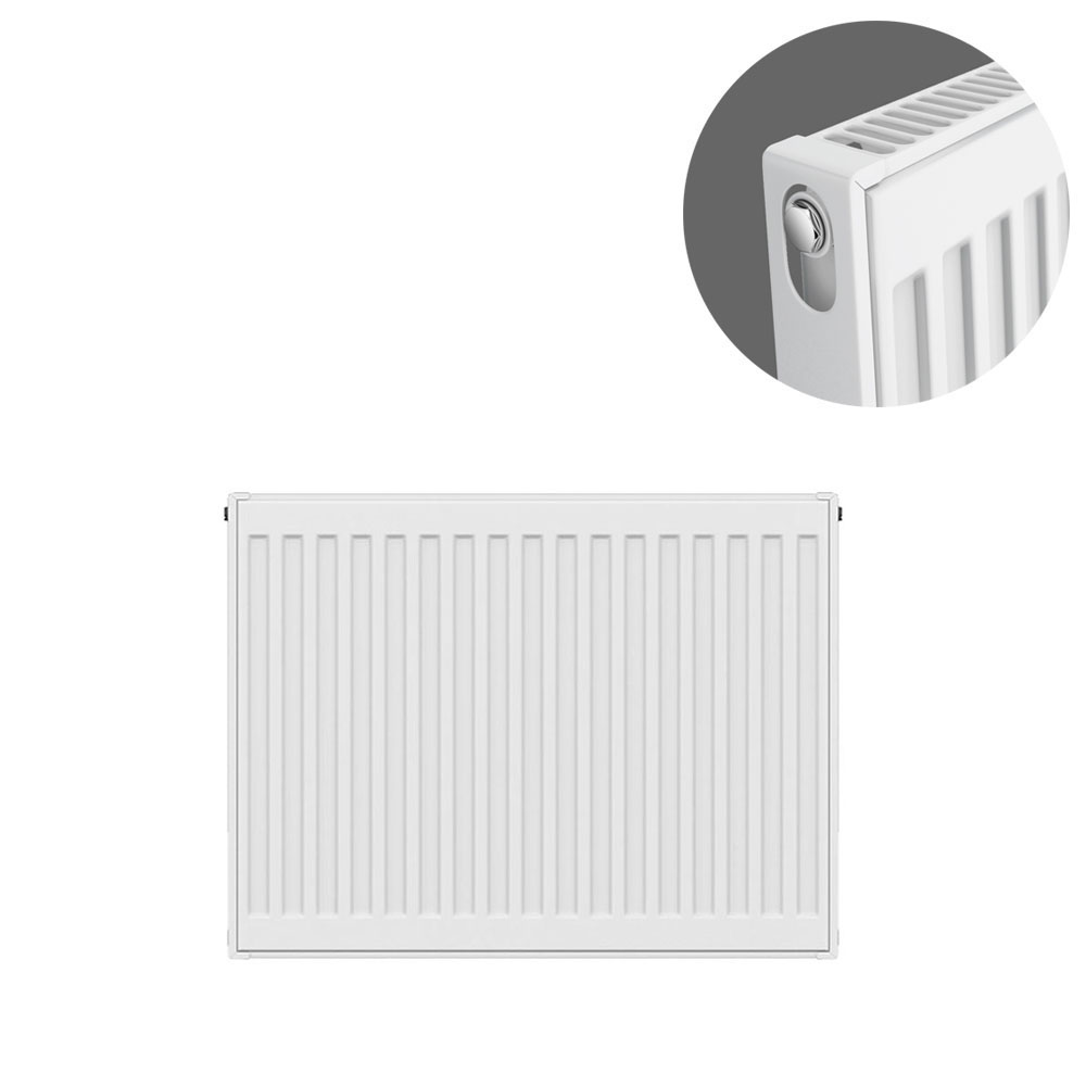 Type 11 H500 x W600mm Compact Single Convector Radiator - S506K